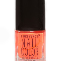 FOREVER 21 Neon Coral Nail Polish Neon Coral One