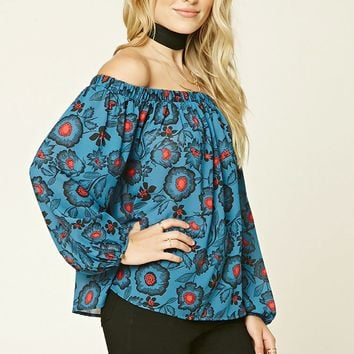 Contemporary Off-The-Shoulder Top