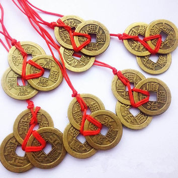New 3pcs/set Oriental Emperor Qing Money Bunch Chinese Feng Shui Coins For Wealth And Success Lucky