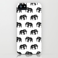 Cool Africa Pattern Elephant Picture iPhone & iPod Case by 1986