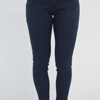 Rose Royce Skinny Jean -Rubberband Stretch {Dark Wash}