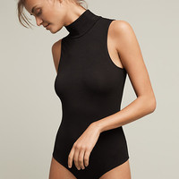 Sleveless Turtleneck Bodysuit