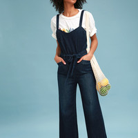 Emma Dark Wash Denim Jumpsuit