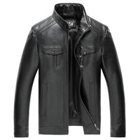 New Mens Faux Leather Jackets  Leather Black Brown Spring Autumn Men Leather Jaket And Coat