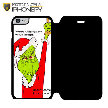The Grinch Christmas iPhone 6 Plus Flip Case|iPhonefy