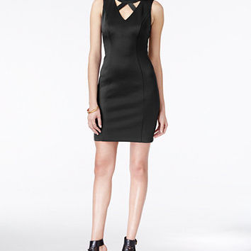 GUESS Cutout Bodycon Dress | macys.com