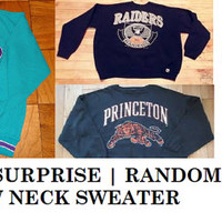Random, Mystery Hipster Crew Neck Sweater