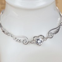 Heart and Wings for Love Women's Bracelet