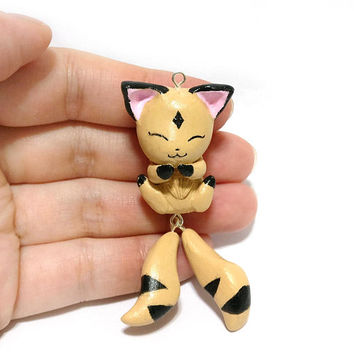 Kirara | Inuyasha Kirara | Kirara Necklace | Anime Necklace | Anime Jewlery | Cosplay Necklace | Otaku Gift | Anime Keychain | Anime Charm