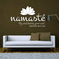 Wall Decal Vinyl Sticker Decals Art Decor Design Lotus Words Soul Namaste yin yang Buddha Ganesha Dorm Office Yoga Modern Bedroom (r1094)