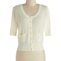 Sweet the Day Cardigan in Ivory