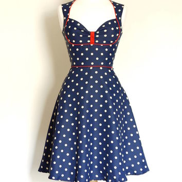 Polka Dot Crepe Du Chine Dress