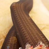 Sexy Lace with Floral Pattern Stocking #1 from 1Point99.com