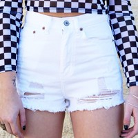 """Look After You"" Denim Shorts"