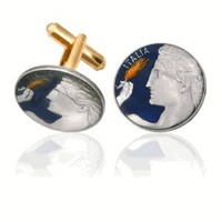 Italy Michelangelo's David Coin Cuff Links-CLC-CL210