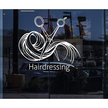 Window Wall Vinyl Decal Beauty Hair Salon Tools Decor Hairdressing (n836w)