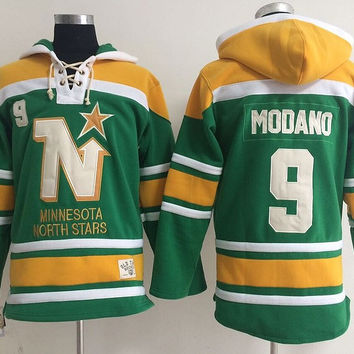 Minnesota North Stars  - MIKE MODANO #9 Vintage NHL Sweatshirt
