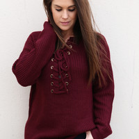 Better Together Sweater {Maroon}