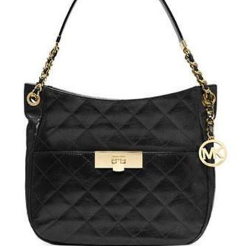 Michael Michael Kors Susannah Lock Medium Quilted Shoulder Bag
