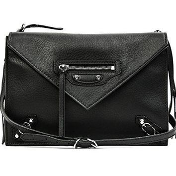 wiberlux balenciaga women s real leather divided compartment crossbody bag 2
