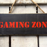 Gaming Sign. Gift for Men Boys. Boys Room. Gamers Gift. Kids Room Decor. Rustic Sign. Gamers Gift.