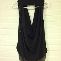 """Kenneth Cole New York Sleeveless """"Going Out"""" Shirt"""