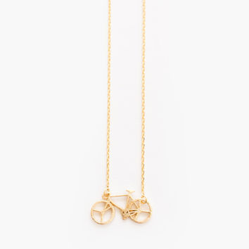 Shelby Bicycle Dainty Gold Necklace