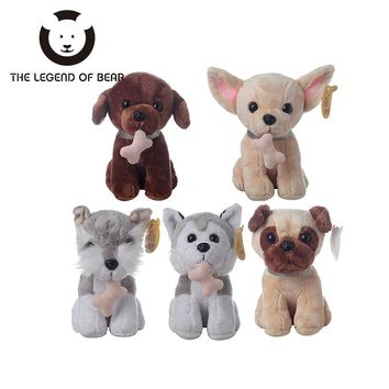 5 Style Dog Dolls THE LEGEND OF BEAR Brand Stuffed Plush Animals Toys Tiny Soft Toy Gifts For Children Girls Kawaii Anime
