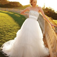 Casablanca Bridal 2052 Pick up Skirt Wedding Dress