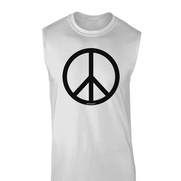 Peace Sign Symbol Muscle Shirt