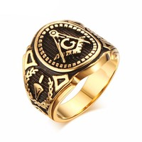 Mason Freemasonry Masonic Male Ring