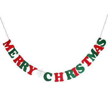 15pcs MERRY CHRISTMAS Letters Bunting Banner Party Home Decoration