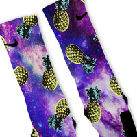 Pineapple Galaxy Custom Nike Elite Socks