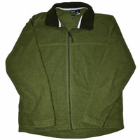 Vintage Army Green Patagonia Fleece Jacket Made in USA Mens Size Large
