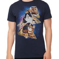 Pizza Cats Space Slim-Fit T-Shirt