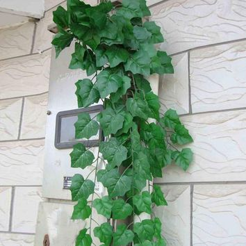 1Pc 2016 New 2M Artificial Ivy Fake Foliage Leaf Flowers Plants Garland Garden Decoration Free Shipping