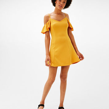 Short A-line dress with cap sleeves - Dresses and jumpsuits - Bershka United Kingdom