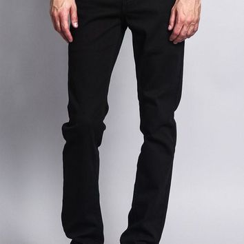 Men's Skinny Fit Colored Jeans DL937 (Black)