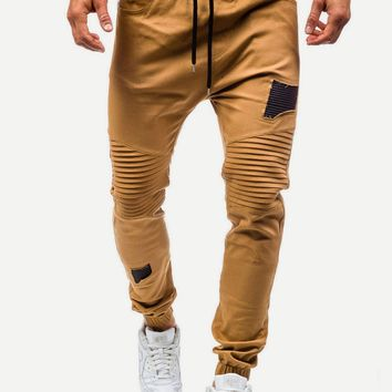 Men Destroyed Drawstring Pants