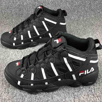 FILA men and women trendy classic fashion couple sports shoes F-CSXY black