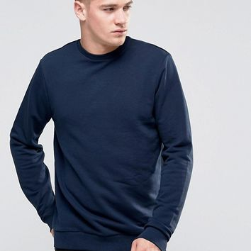 New Look Sweatshirt In Navy at asos.com