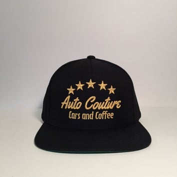 Auto Couture cars and coffee snapback hats