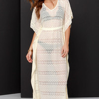 Walking on a Dream Cream Lace Cover-Up