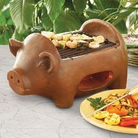 Pig Terracotta Grill - World Market