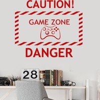 Vinyl Wall Decal Game Zone Video Game Teen Room Gaming Stickers Unique Gift (ig3662)