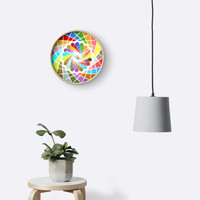 'Color mandala' Clock by adiosmillet
