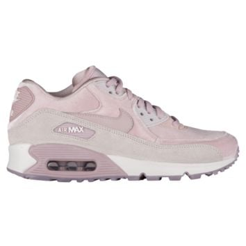 Nike Air Max 90 LX Velvet - Women's - Women's - Casual Running Sneakers - Casual - Nike - Shoes - Particle Rose/Particle Rose/Vast Grey/Summit White | Lady Foot Locker