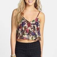 Lovely Day Floral Crop Tank (Juniors)