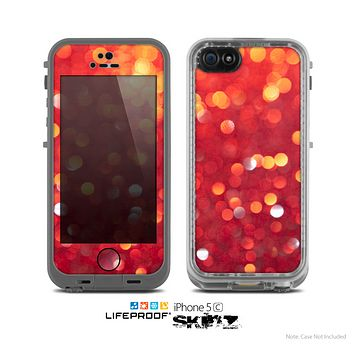 The Unfocused Red Showers Skin for the Apple iPhone 5c LifeProof Case