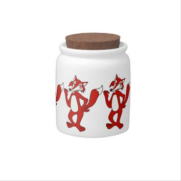 Red Fox Candy Jar